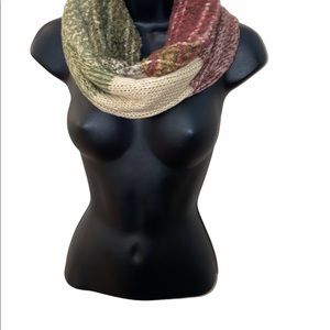 David & Young Plaid Ombré Infinity Scarf